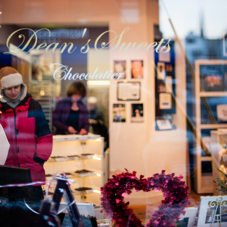Dean'sSweets Chocolatier Portland, Maine Art Walk featuring Melissa Mullen Photography